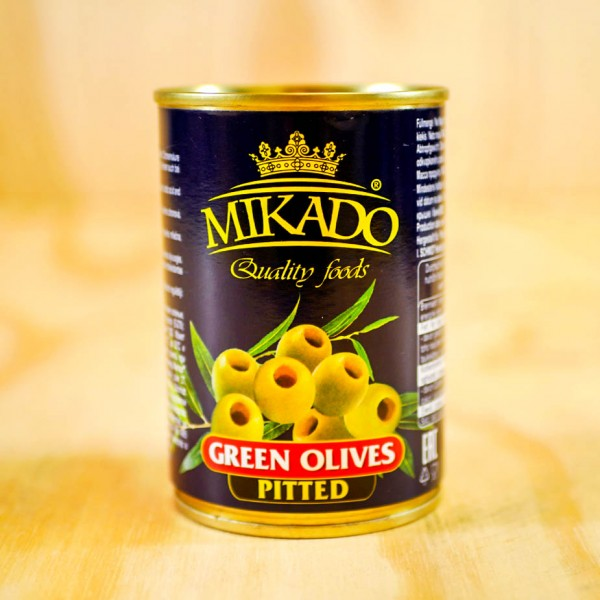 Olives, green, pitted