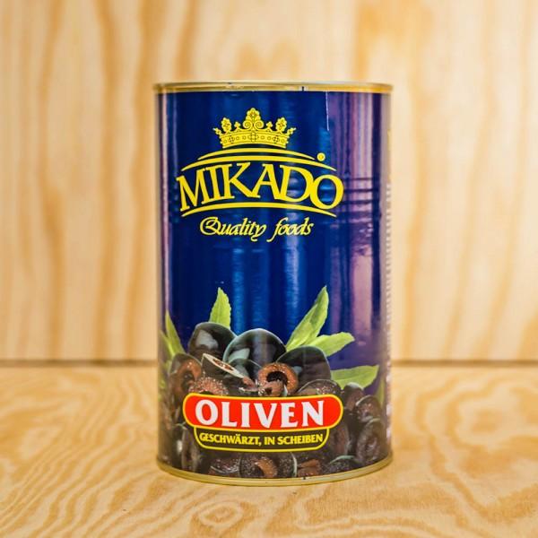 Olives, black, in Slices