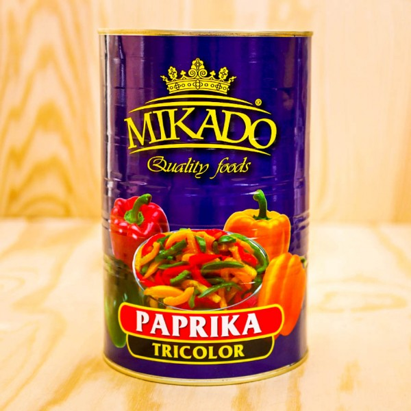 Paprika, tricolor, yellow / green / red
