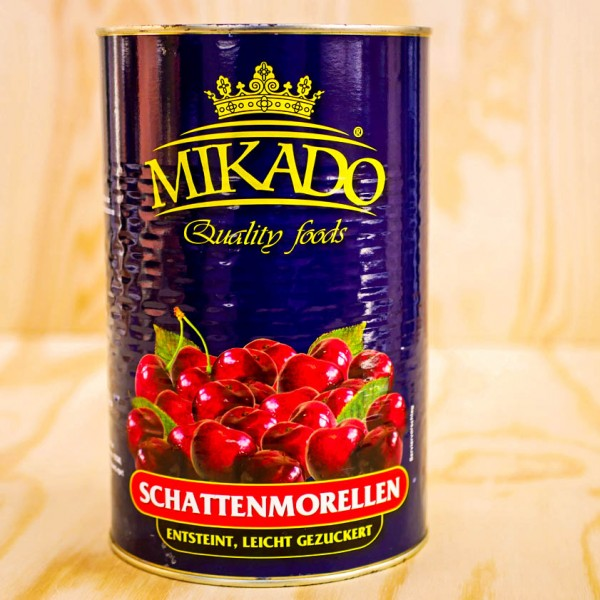 Cherries – Morello/Sourcherries, red, pitted, in light syrup