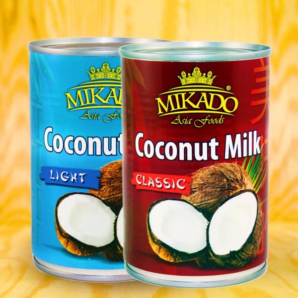 Coconut milk Mix Tray ,4x Light (8-10%), 8x Classic (17-19%)