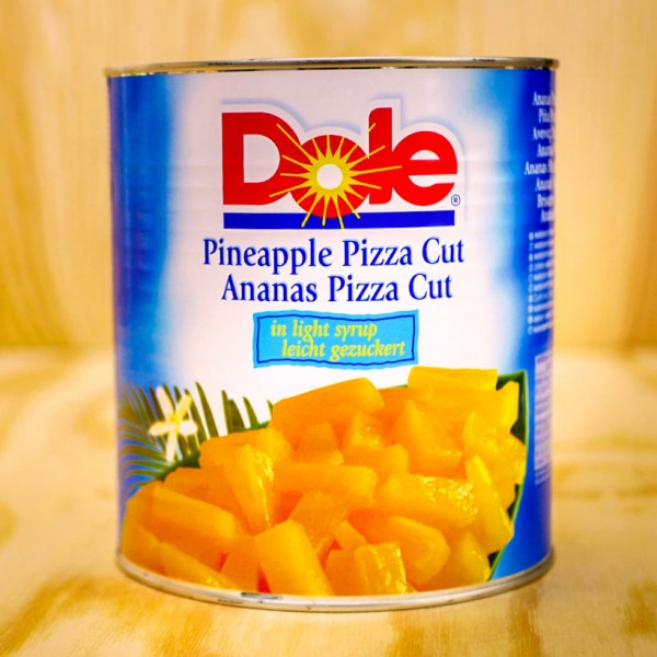 Pineapple Pieces, pizzacut, in light syrup