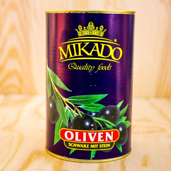 Olives, black, wholes, 28/32