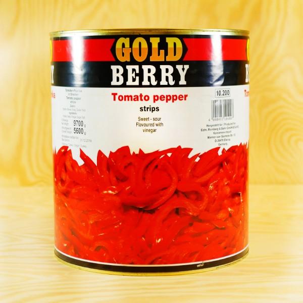 Red Pepper, in stripes