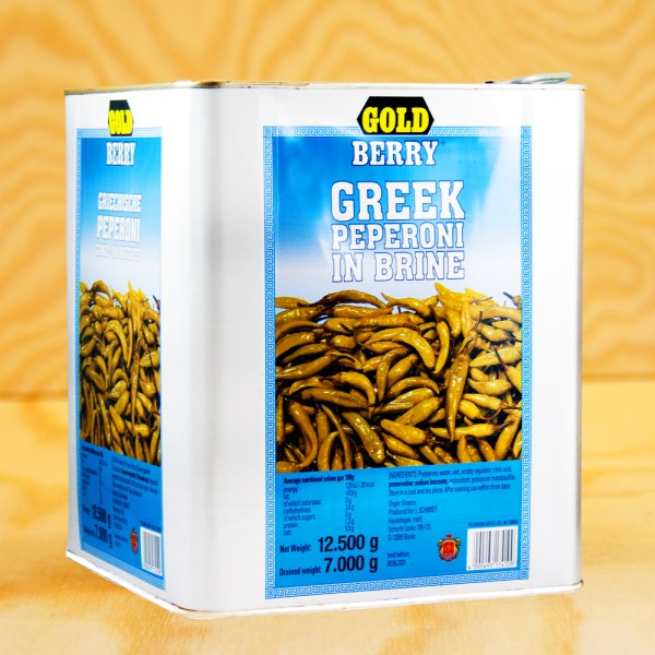 Greek peppers, green, wholes