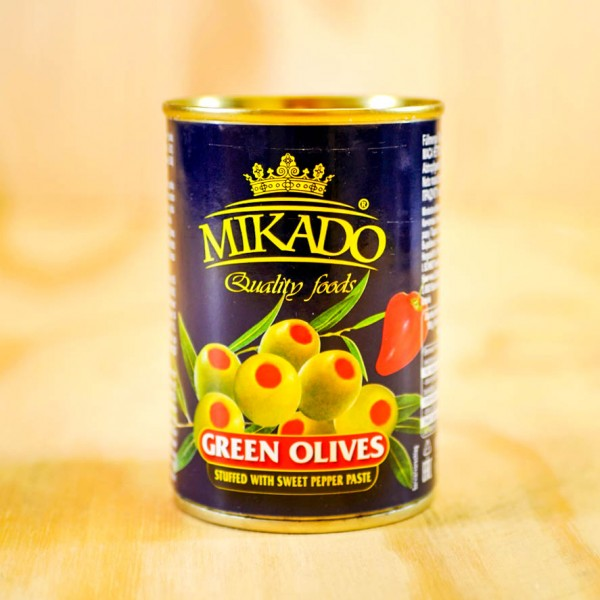 Olives, green, stuffed with Pimiento